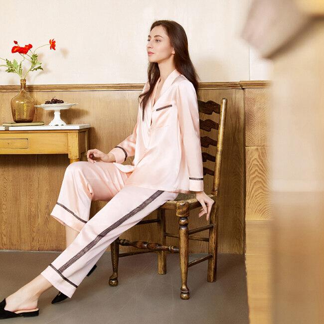 Premium Silk Pyjamas Set 19 Momme Mulberry Silk Pajamas Set for Women