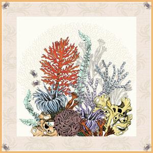 Custom Scarves Pattern-Plants