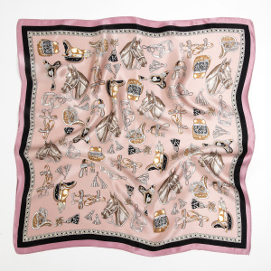 Square Polka Dot Printed Women Silk Scarves