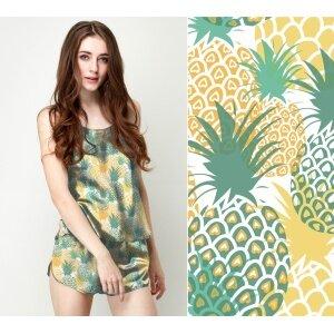 Custom Fabrics Pattern-Pineapple