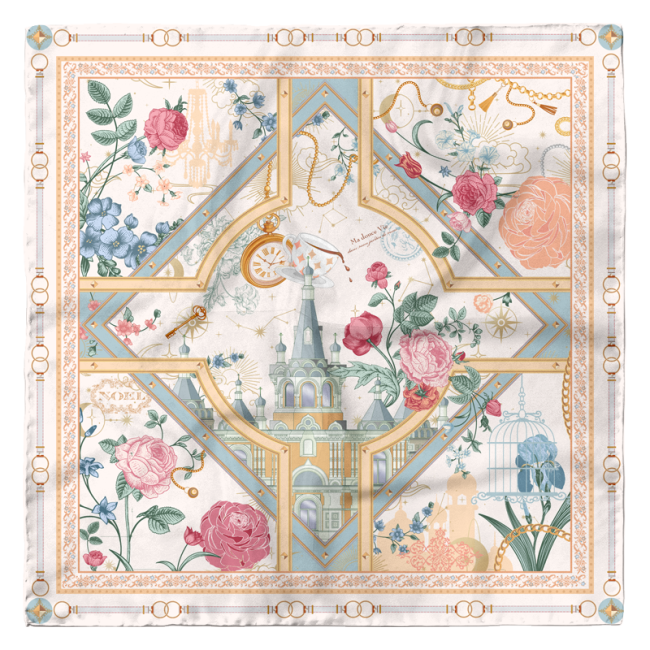 Tales of the Unusual 90*90cm 16 Momme Silk Twill Scarf