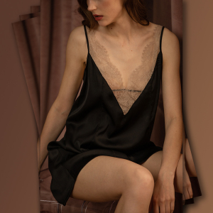 Lace Lingerie Silk Satin Night Dress For Women