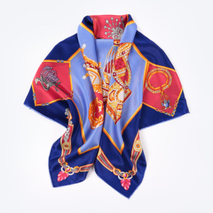 New Design Luxury Print Women 100% Silk Scarf