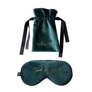 Velvet Silk Sleep Mask With Pouch