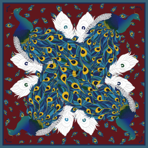 Custom Scarves Pattern-Peacocks
