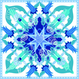 Custom Scarves Pattern-Sea