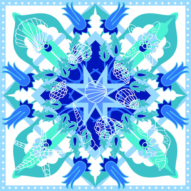 Custom Scarves Pattern-Sea