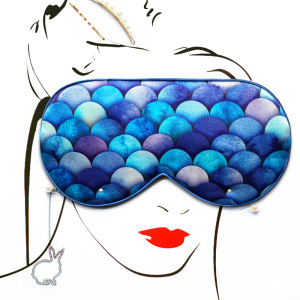 Handmade Luxury Travel Mermaid Silk Eye Mask