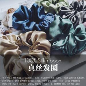 30 Momme Silk Hair Scrunchies- 3.5cm Width