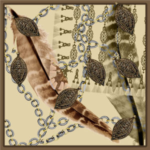 Custom Scarves Pattern-Chain