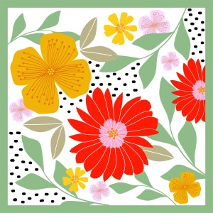 Custom Scarves Pattern-Flower
