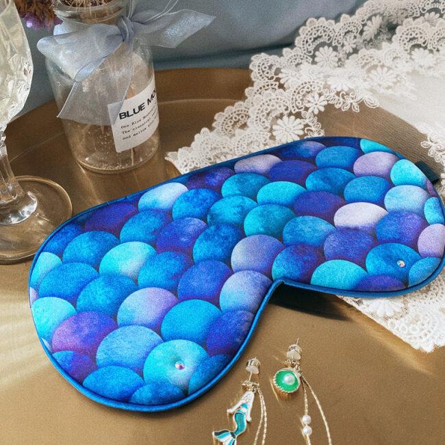 Handmade Luxury Travel Mermaid Silk Eye Mask