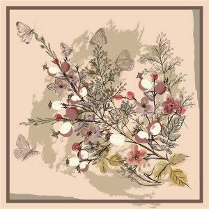 Custom Scarves Pattern-Butterfly&Flower