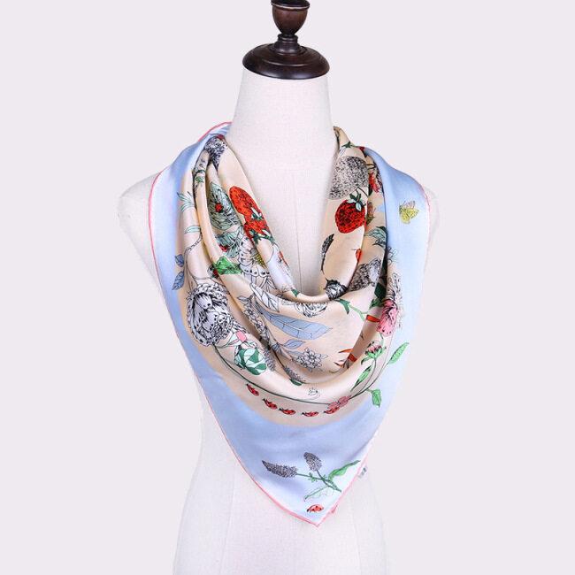 Professional Colorful Decorative Spring Autumn Silk Scarf