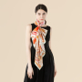 90*90cm Double-sided Printing 19 Momme Silk Twill Scarf