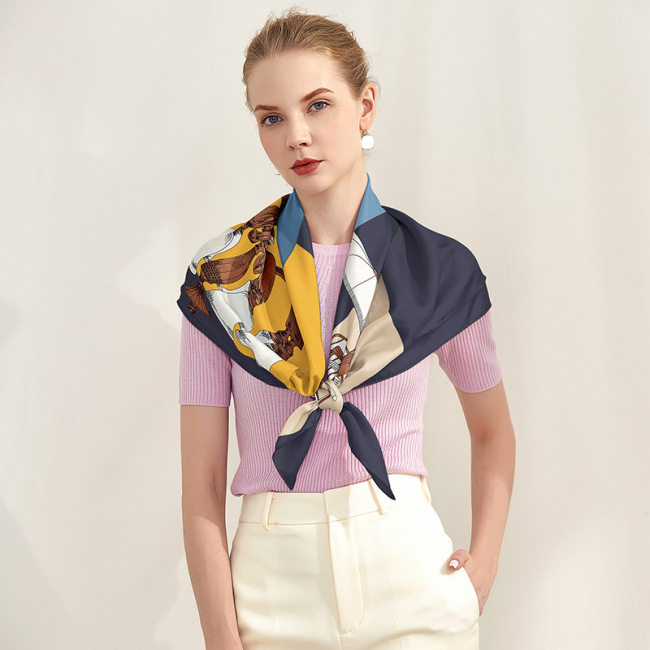 Chinese Fashion Women Square 100% Silk Scarves