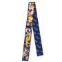 Butterfly And Flower Silk Twill Skinny Scarf