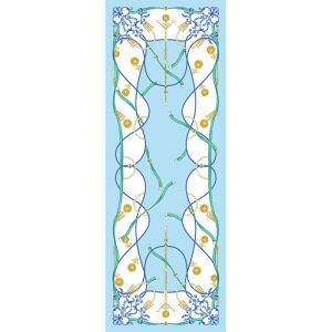 Ladies Belt Chain Print Long Silk Head Scarf
