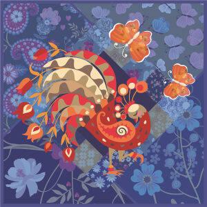 Custom Scarves Pattern-Peacock