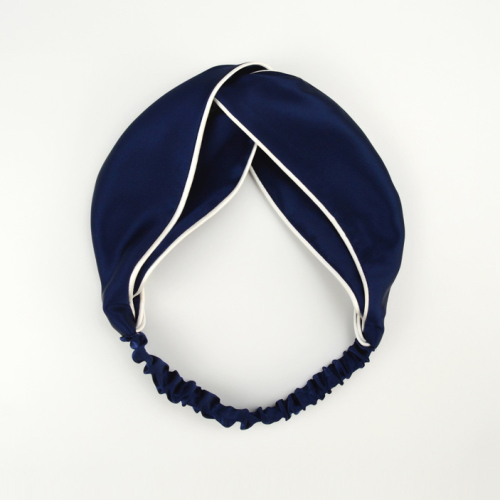Solid Color Twisted Silk Satin Hair Bands