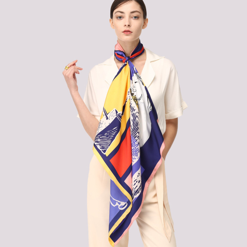100% Silk Twill Scarf and Hijab for Women