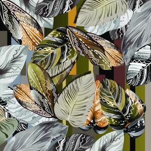Custom Scarves Pattern-Leaves