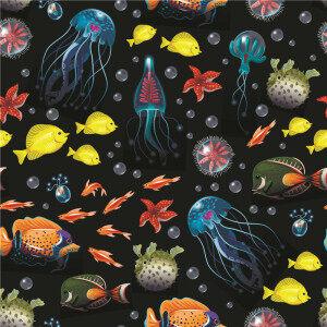 Custom Fabrics Pattern-Sea Animals
