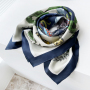 Animals And Plants Double-sides Print 16 Momme Silk Twill Scarf
