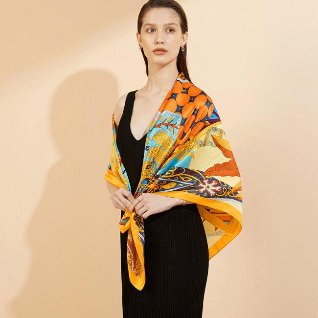 Fashion Design Printing Silk Scarves
