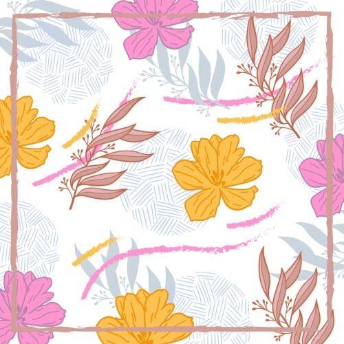 Custom Scarves Pattern-Flower Painting