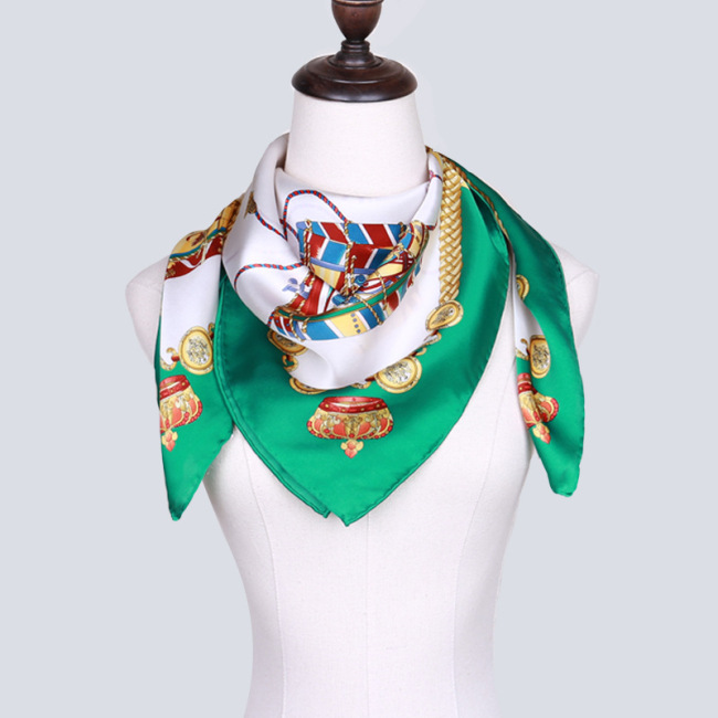 Wholesale 100% Silk Printing 90*90cm Large Square Scarf
