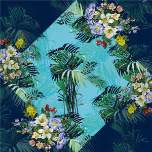 Custom Scarves Pattern-Flower and Leaves