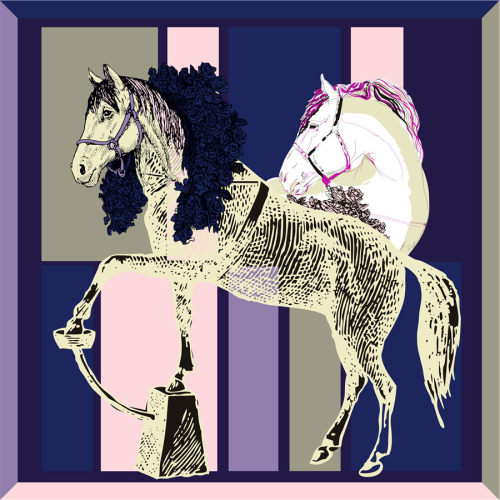 Custom Scarves Pattern-Horse