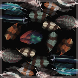 Custom Scarves Pattern-Feather