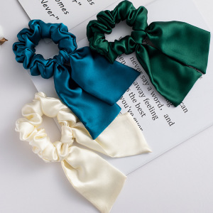 16 Momme Rabbit Ears Silk Hair Scrunchies
