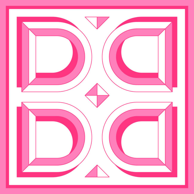 "Custom Scarves Pattern-""D"" Letter"