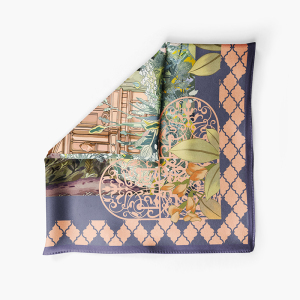 Secret Garden Design Pure Silk Twill Fabric Scarf
