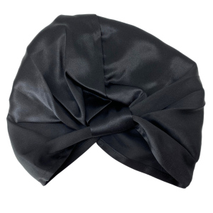 Silk Pleated Turban Bonnets for Hair