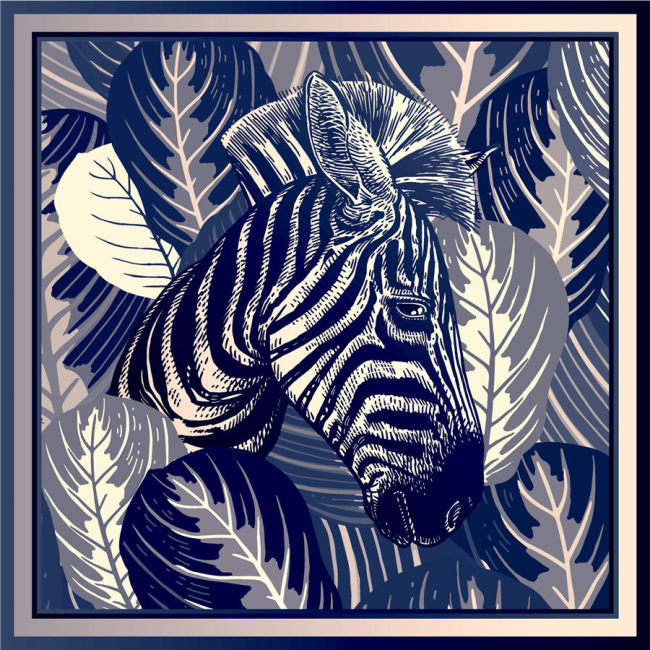 Custom Scarves Pattern-Zebra