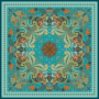 Paisley Design Double-sided Printing 19 Momme Silk Twill Scarf