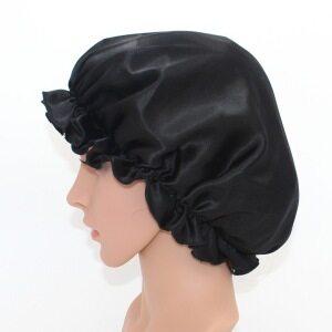 Flounced 100 Silk Hair Bonnet Cap For Sleeping