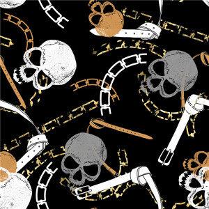 Custom Fabrics Pattern-Skull