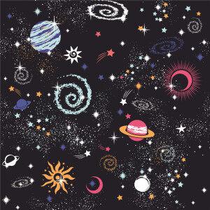 Custom Fabrics Pattern-Starry Sky