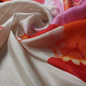 Custom Printed Silk Tencel Fabrics