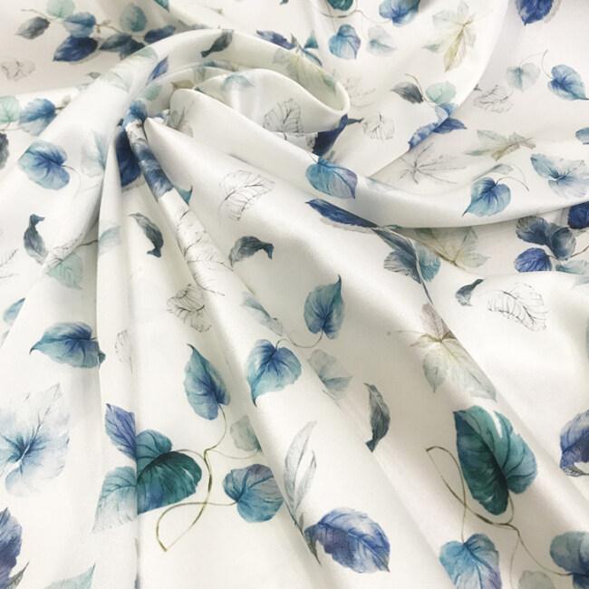 Custom Printed Satin Silk Fabric