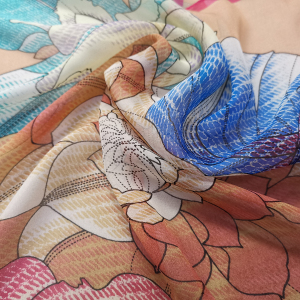 Custom Printed Chiffon Silk Fabric