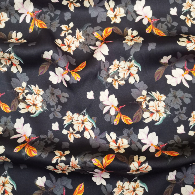 Custom Printed Silk Viscose Fabric