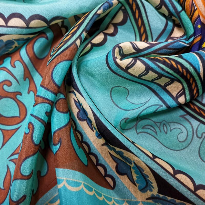 Custom Printed Silk Cotton Fabrics