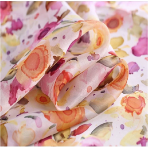 Custom Printed Silk Organza Fabric