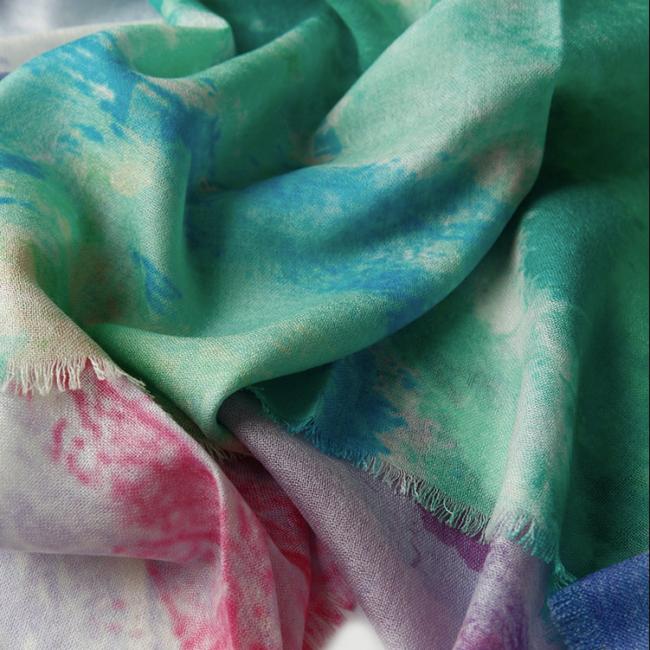 Custom Printed Silk Wool Fabric